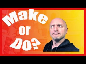 MAKE VS DO | WHAT'S THE DIFFERENCE? Коротко о грамматике